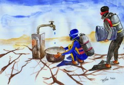 Water International Cartoonet contest Tehran 2010-wsleo