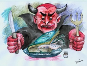 Devil against the Holy Book-Iran Cartoon Competition 2011